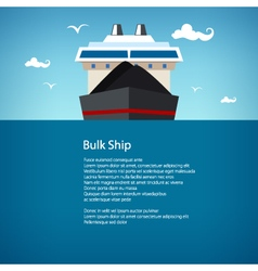 Bulk Ship Poster Brochure vector image