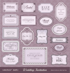 Invitation design elements vector