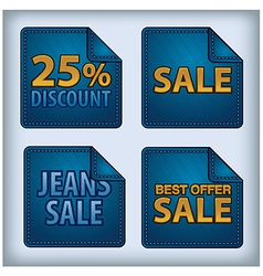 jeans sticker sale vector image vector image