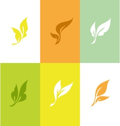 Leaf Set of elegant design elements vector image vector image