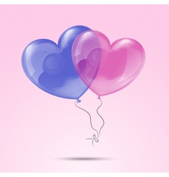 Love heart balloons vector image vector image