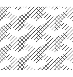 Seamless Geometric Pattern Black And White Lines vector image