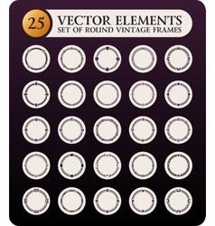 Vintage round frames set Calligraphic design vector image