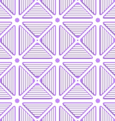 White triangles with lines and violet tile vector image vector image
