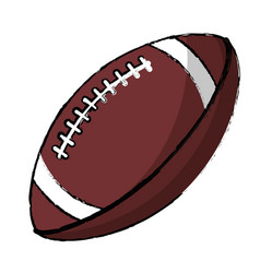 American football sport ball image vector