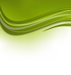 Green wawy background design template vector