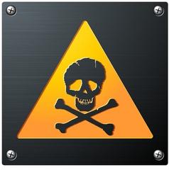metal grunge skull sign vector image