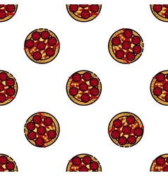 Pizza flat pattern vector image