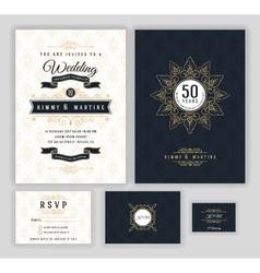 Wedding anniversary celebration party invitation vector