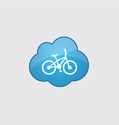 Blue cloud bike icon vector image