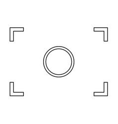 Camera focus black color icon vector
