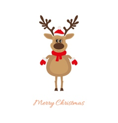 Christmas deer on a white background vector