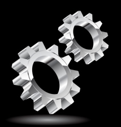 chrome gears vector image