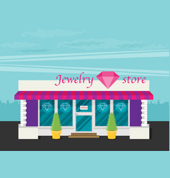 facade of jewelry flat vector image vector image