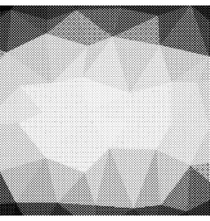 Halftone Pattern Dots on White Background vector image