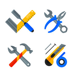 home repair tools icons working construction vector image