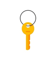 Key hanging on ring isolated vector image