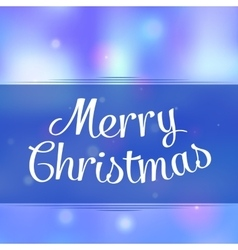 Merry christmas greeting background with holiday vector image vector image