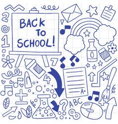 08-09-072 hand drawn set school icons vector