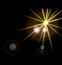 a bright flash of a star explosion of light on a vector image