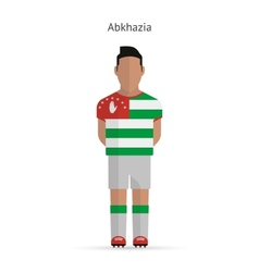 Abkhazia football player Soccer uniform vector