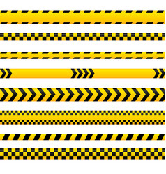 abstract caution tape yellow danger lines empty vector image