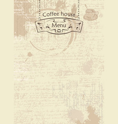 abstract coffee background with street sign vector image