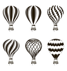 air balloon set vector image