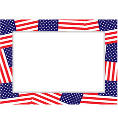 american flag decorative holiday border frame vector image