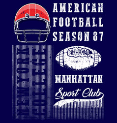 american football graphic tee vector image