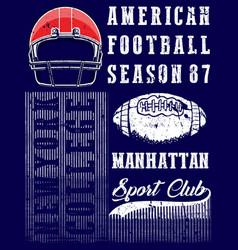 American football graphic tee vector
