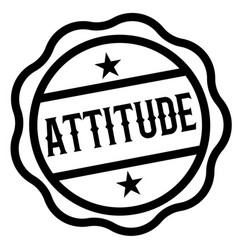 Attitude stamp on white vector
