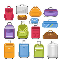 bags different type models travel bag vector image