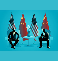 bilateral talks vector image