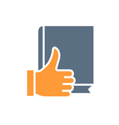 Book with thumb up colored icon best book vector