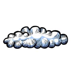 Cartoon image of cloud icon vector