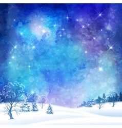 Christmas winter forest vector
