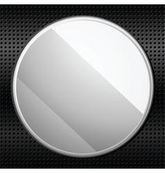Circular metal plaque vector