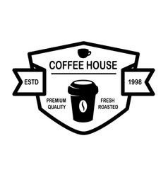 coffee house emblem template design element vector image