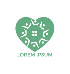 community love home logo design vector image