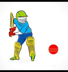 Cricket player ready to hit ball design vector