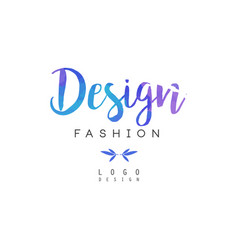 design fashion logo badge for clothes boutique vector image