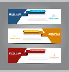 Design horizontal template flyer banner vector