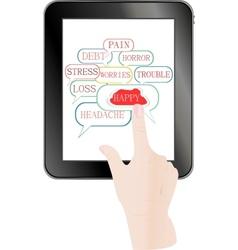 digital tablet pc vector image
