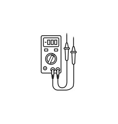 electric tester line icon build repair vector image