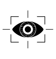 eye virtual reality pictogram vector image