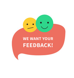 Feedback speech bubble concept banner for business vector