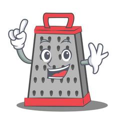 Finger kitchen grater character cartoon vector