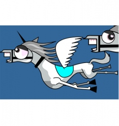flying horses vector image
