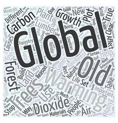 Forestry and Global Warming Word Cloud Concept vector